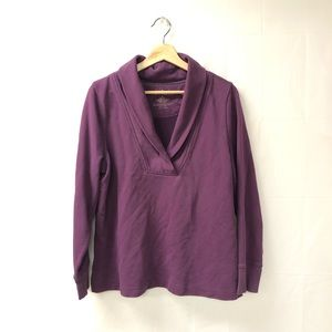 L.L. Bean large purple sweatshirt